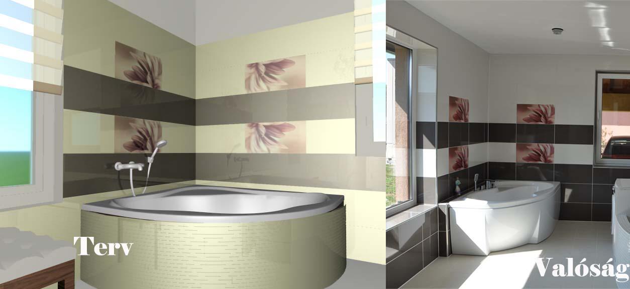 Elkészült egy fürdőszoba - Lakinta csempe és fürdőszoba